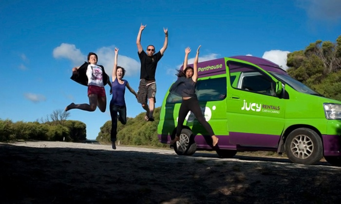 Jucy Rentals - Multiple Locations: Three- or Seven-Night Campervan Rental with Unlimited Miles from Jucy Rentals (Up to 40% Off)