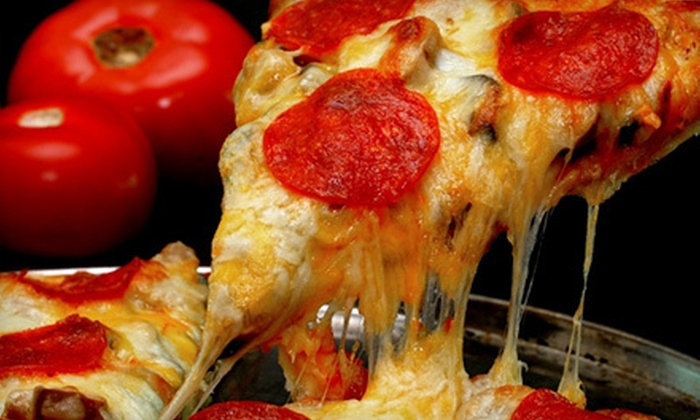 Giovannis Pizza - Paris: Lunch or Dinner Pizza Buffet and Drinks for Two at Giovannis Pizza (51% Off)