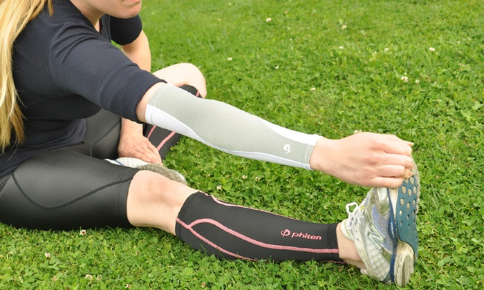 Phiten Calf or Arm Compression Sleeves: Phiten Arm or Calf Sleeves (Up to 47% Off). Multiple Colors Available. Free Shipping on Purchases of $15 or More.