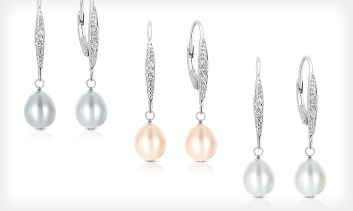 Freshwater-Pearl Dangle Earrings: $19 for Freshwater-Pearl Dangle Earrings ($149 List Price). Six Options Available. Free Shipping and Free Returns.
