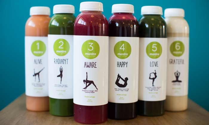 Mantra Yoga and Juice - Carlsbad: $95 for a Three-Day Organic Juice Cleanse at Mantra Yoga and Juice (49% Value)