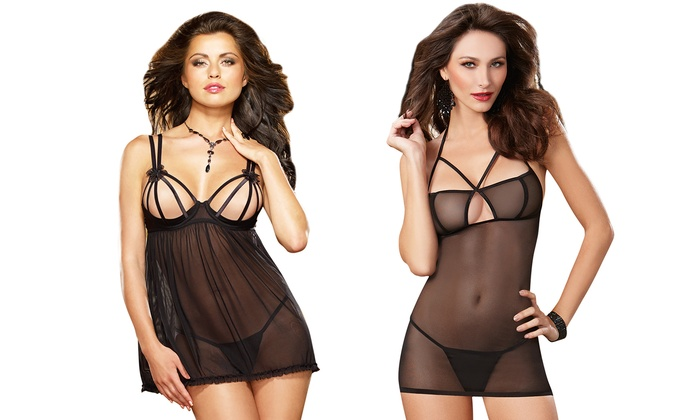 d3f9d2f0bc2 Dreamgirl Strappy Lingerie Sets | Groupon Goods