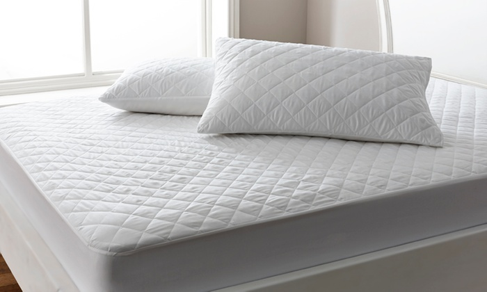 Soft-Touch Quilted Mattress Protector, Two Pillow Protectors or Bundle from £5