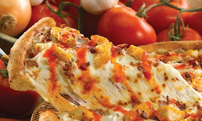 Papa John's Chicago - Multiple Locations: One or Three Large Pizzas with Breadsticks and Soda, or Five Large Pizzas at Papa John's (Up to 64% Off)