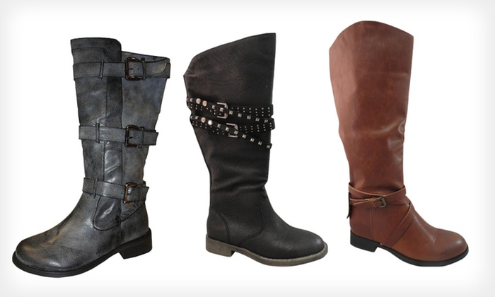 Bucco Vegan Faux Leather Boots: Bucco Vegan Faux Leather Riding Boots (Up to 69% Off). 32 Options Available. Free Shipping.