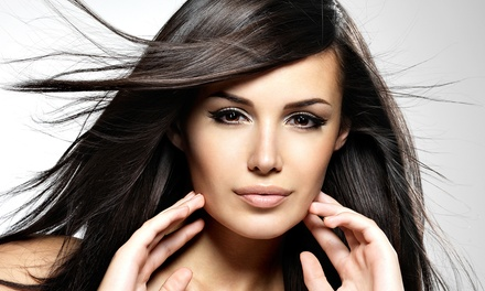 $72 for a Haircut with Deep Conditioner, Blow-Dry, Style, and Single-Process Color at Illusions Hair Salon ($145 Value)