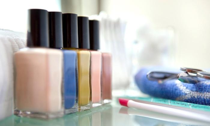 Nails Patricia @ Studio Salon - Enterprise: Spa or Gel Mani-Pedi, or a Acrylic Full Set  from Nails Patricia at Studio Salon (Up to 57% Off)