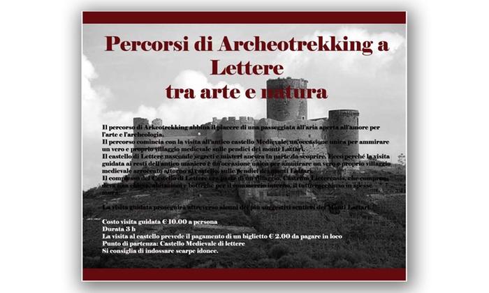 CamCampania - Via S. Nicola del Vaglio: Percorso di arkeotrekking al castello e al villaggio di Lettere per 2 persone con CamCampania (sconto fino a 58%)