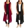 Nelly Women's Sleeveless Long Cardigan with Pockets