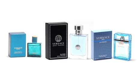 Versace Pour Homme, Man Eau Fraiche, or Eros Eau de Toilette for Men (Multiple Sizes Available)