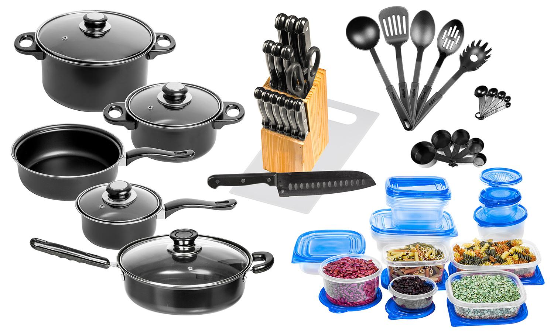 nonstick carbon steel starter cookware and utensil set
