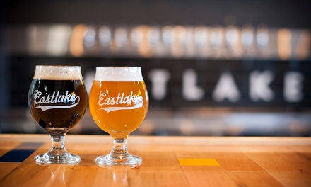 Craft Beer Tastings for Two or Four at Eastlake Craft Brewery (Up to 48% Off). Four Options Available.