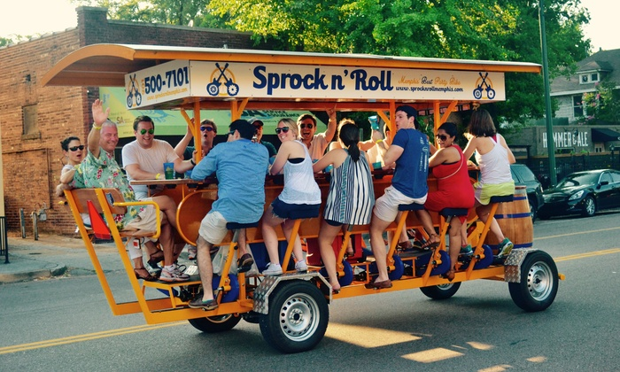 Sprock n' Roll - Sprock n' Roll: Party Bike Outing for 1, 2, 4, 6, or 16 from Sprock n' Roll (Up to 65% Off). 10 Options Available.