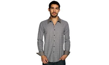 Harve Benard Button-Down Gray Shirt
