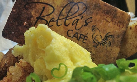 Café Breakfast or Lunch at Bella's Café  (Up to 47% Off). Two Options Available.