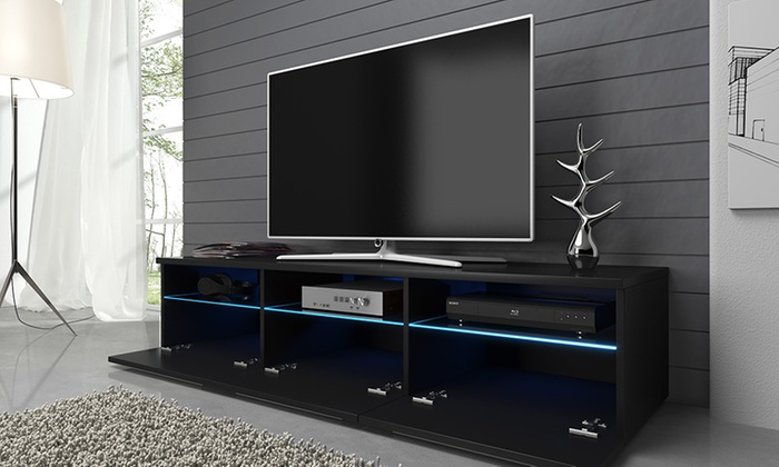 meuble tv led detroit groupon shopping. Black Bedroom Furniture Sets. Home Design Ideas