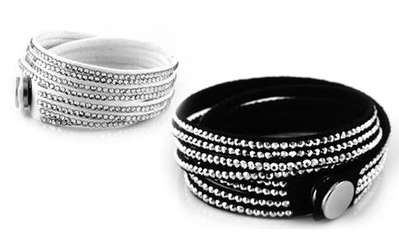 Wrap Bracelet with Swarovski Crystal Elements