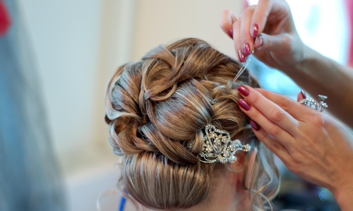 Posh Bridal Hair - Kalamazoo: Bridal Updo-Styling Session from Posh Bridal Hair (58% Off)