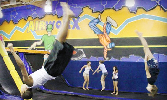 Airworx - Chandler: Indoor Jump Passes for Two or Four with Bottles of Water at Airworx (49% Off)