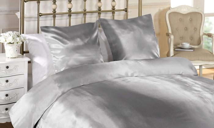 couvre lit satin polyester Parure de lit satin | Groupon Shopping couvre lit satin polyester
