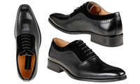 Gino Vitale Men's Lace Up Medallion Toe Dress Shoes (Multiple Colors)