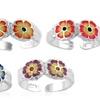 Sterling Silver Flower Toe Rings