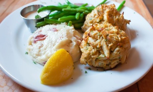 The Seasoned Mariner: Seafood and Drinks at The Seasoned Mariner (Up to 48% Off). Three Options Available.