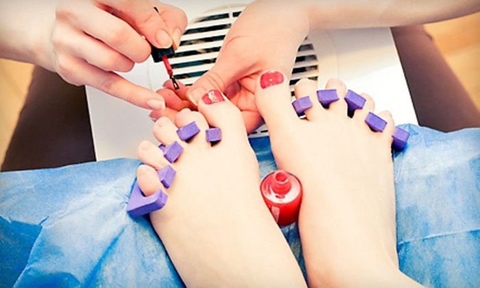 Relaxed Spa - Foggy Bottom - GWU - West End: One or Two Classic or Shellac Mani-Pedis at Relaxed Spa (Up to 48% Off)