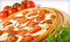 Eagle Pizzeria - Central Sunset: Specialty Pizza Meals with Salad and Soda for Two or Four at Eagle Pizzeria (Up to 57% Off)