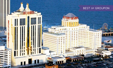 Stay with Daily Spa Admission and Dining Credit at Resorts Casino Hotel in Atlantic City. Dates into April Available.