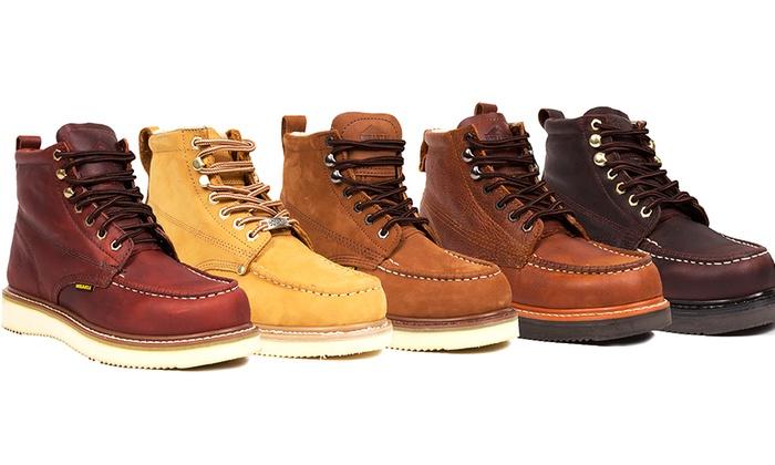 Bonanza Men's Moc-Toe Work Boots