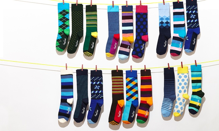 Happy Socks: $22 for Happy Socks 3-Packs for Men and Women ($36 List Price). Multiple Styles Available. Free Shipping.