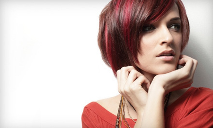 Twisted Scissors Salon - Forest Hills,Fort Sanders: Blowout or Cut with Blowout, Conditioning and Option for Highlights or Color at Twisted Scissors Salon (Up to 74% Off)