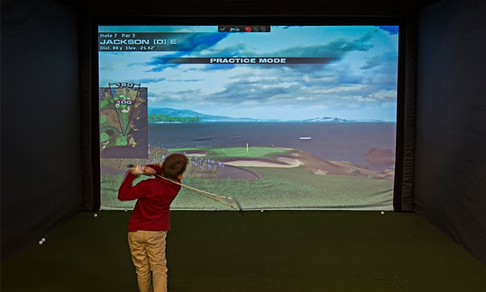 Impact Golf Center - Draper: One or Two Hours on Golf Simulator or One Lesson and One Hour on Simulator at Impact Golf Center (Up to 56% Off)