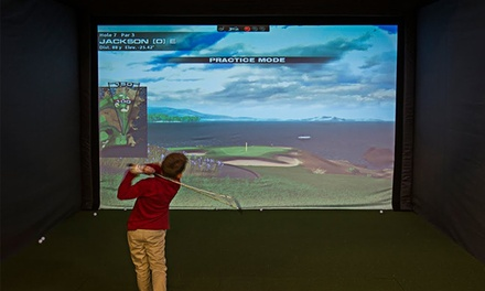 One or Two Hours on Golf Simulator or One Lesson and One Hour on Simulator at Impact Golf Center (Up to 56% Off)