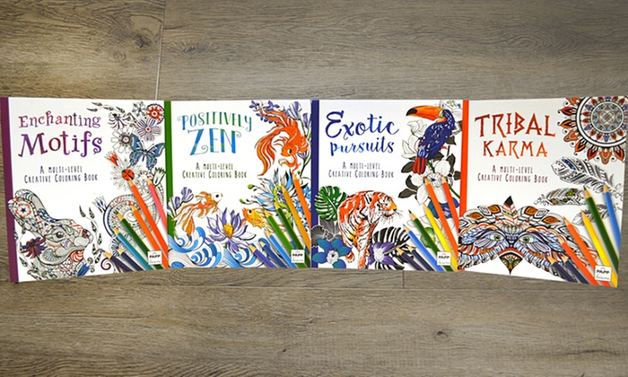 Adult Creative Coloring Books (4-Pack)