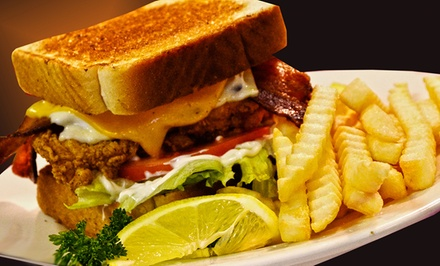 Burgers, Sandwiches, Wings, and Draft Beers at Linden Grill (Up to 53% Off). Four Options Available.