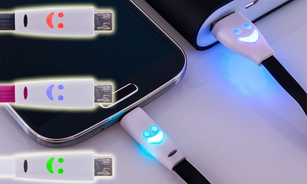 Cable plano led con sonrisa para Android