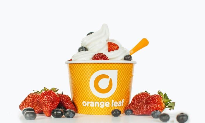 Orange Leaf - New Albany - New Albany: Frozen Yogurt at Orange Leaf - New Albany (40% Off). Two Options Available.