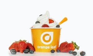 Orange Leaf - New Albany: Frozen Yogurt at Orange Leaf - New Albany (40% Off). Two Options Available.