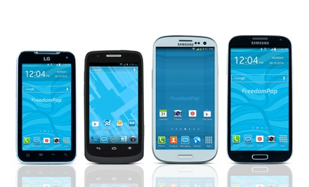 Free 4G LTE Mobile-Phone Service with Samsung, LG & ZTE Android Smartphones from $69.99–$259.99 - FreedomPop (Certified Preowned)