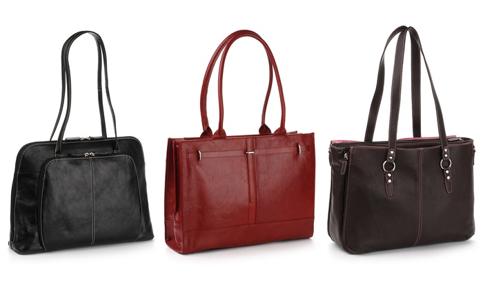Buxton Leather Business Totes