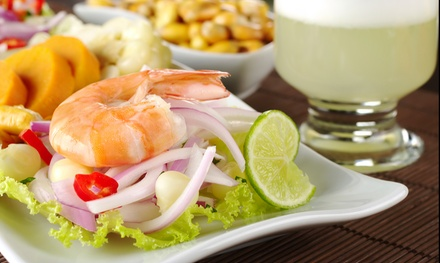 Authentic Peruvian Cuisine for Two or Four at Sabor Peru (Up to 52% Off). Four Options Available.