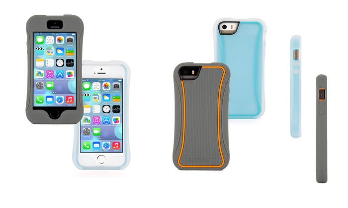 on sale 4ddb7 9ca28 Griffin Survivor Slim Protective Case for Apple iPhone 5/5s | Groupon