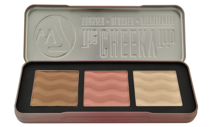 W7 The Cheeky Trio with Bronzer/Blusher/and Highlighter (1- or 2-Pack)