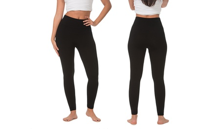 2-Pack of Women's High-Waisted Fleece-Lined Leggings