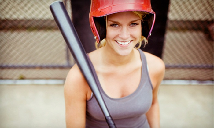 Rage Cage Training Complex - Holly: 20 Batting Cage Tokens or 40 Tokens for Two or More People at Rage Cage Training Complex (Up to 53% Off)