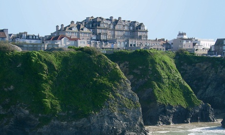 Cornwall: 1 or 2 Nights for Two with Full English Breakfast, Cream Tea, Prosecco and Spa Access at Hotel Victoria