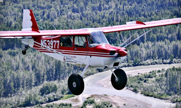 Above Alaska Aviation - Talkeetna: $89 for an Introductory Flight Lesson from Above Alaska Aviation ($200 Value)