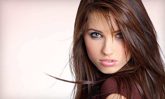 Violet's Salon - Auburn Hills: Haircut with Optional Styling, Conditioning, and Partial Highlights at Violet's Salon in Auburn Hills (Up to 51% Off)